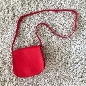 UO Red Faux Leather Crossbody Bag